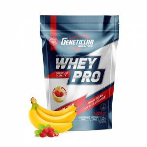 GENETIC LAB - WHEY PRO клубника-банан (1Кг)