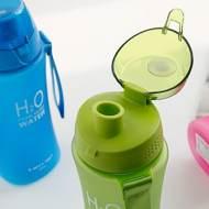 Бутылка H2O розовая (650мл)
